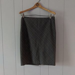 The Limited Gray Plaid Pencil Skirt